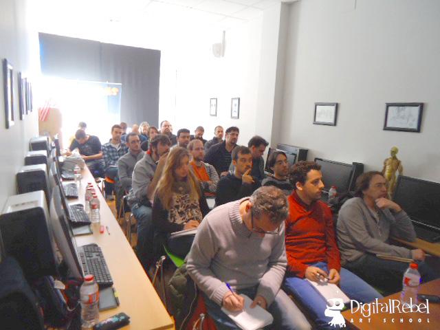 Asistentes a la charla de Sergi Caballer