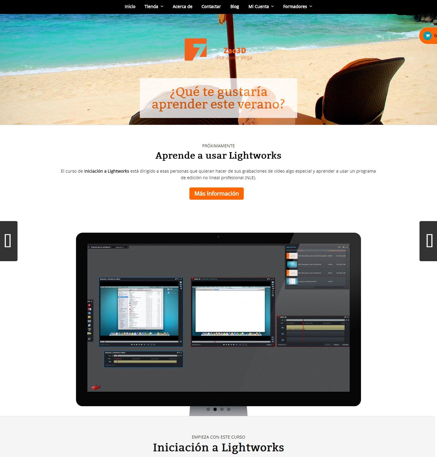Nueva web de Zao3D