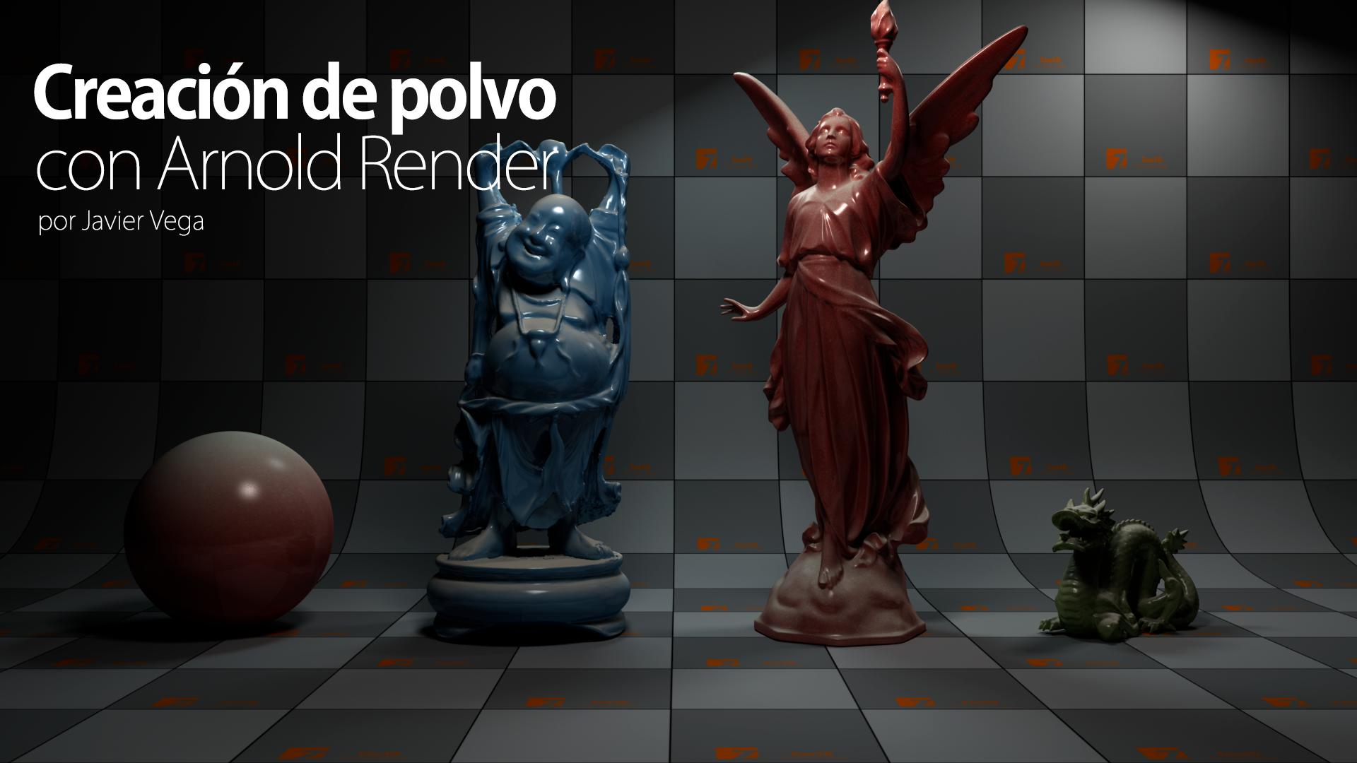 Creación de polvo con Arnold Render