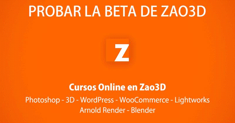Participar en la beta de Zao3D