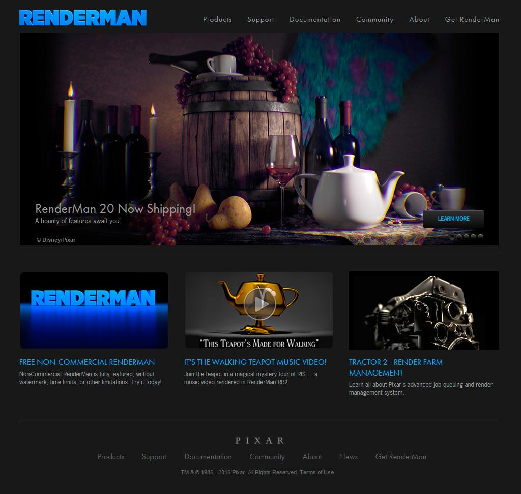 Página web de Renderman
