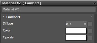 El shader de Surface Material, Lambert de Arnold
