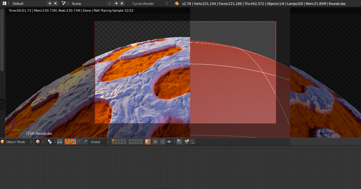 Micropolygon Displacement en Blender