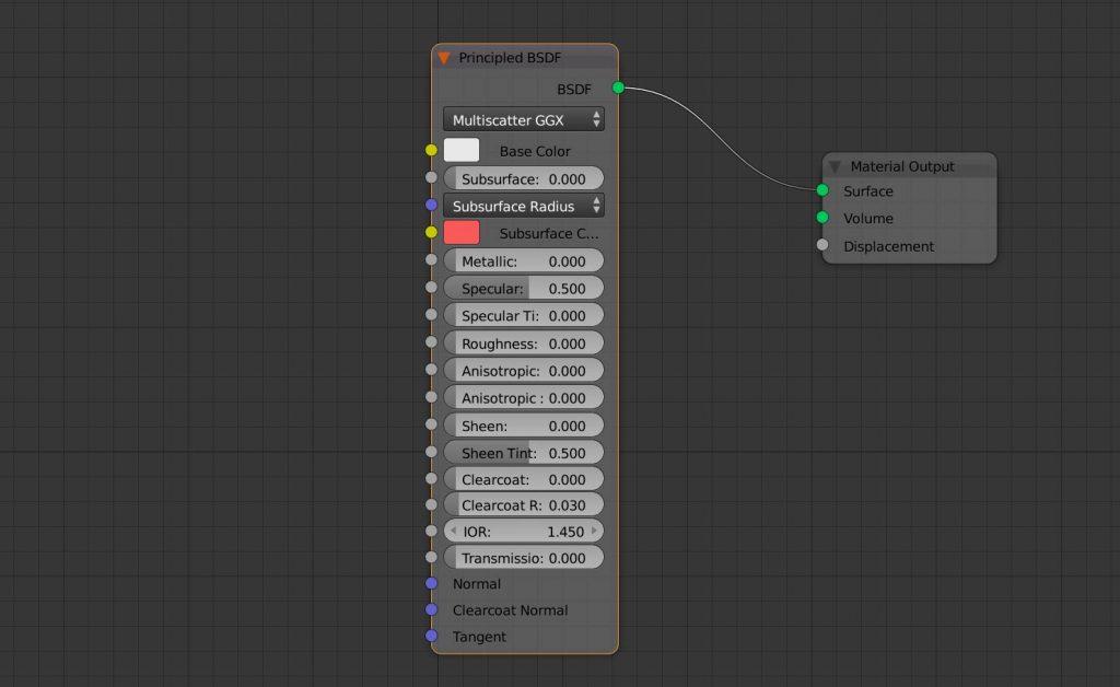 El nodo Principled PBR en Blender 2.79