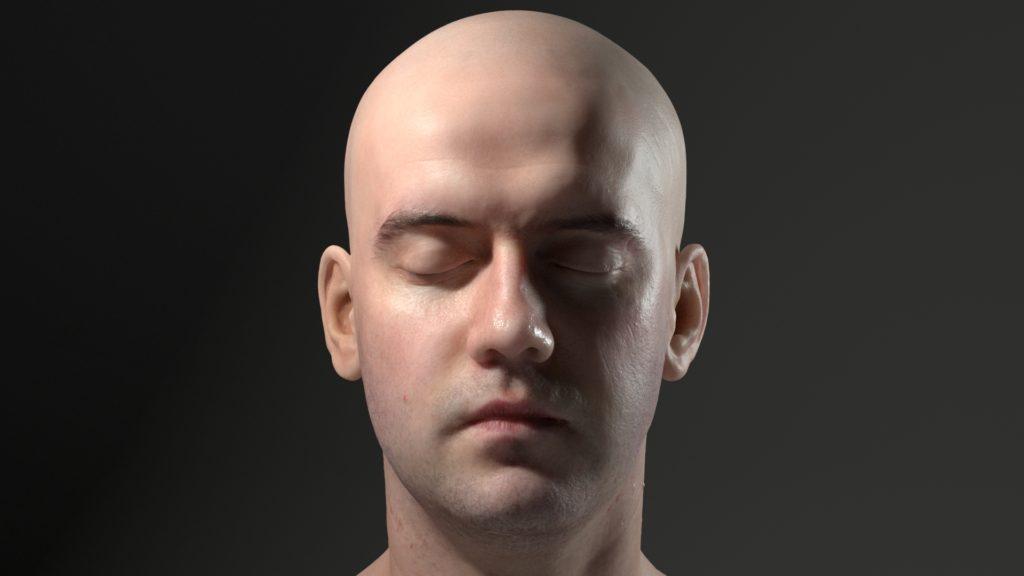 Recreación de la piel humana con Sub-Surface Scattering en Arnold 5 para Maya