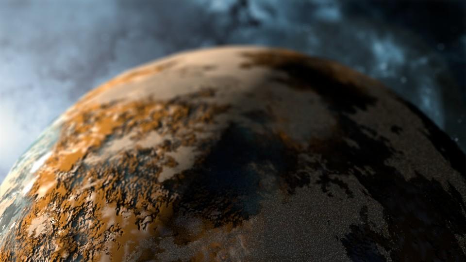 Prueba de planeta con Bump3D