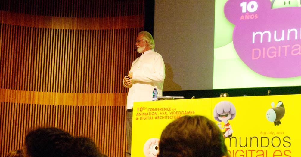 Alvy Ray Smith, cofundador de Pixar durante su intervención en Mundos Digitales