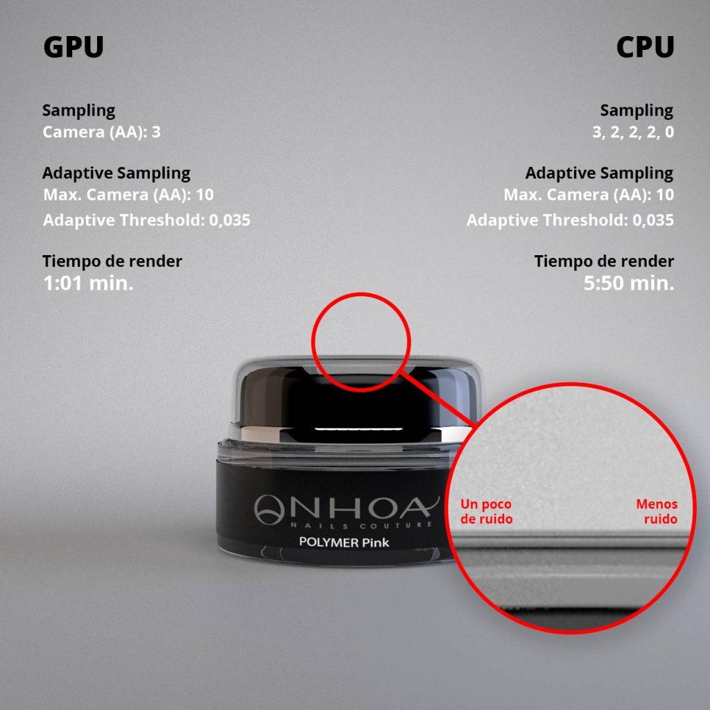 Comparando entre render con Arnold GPU y CPU