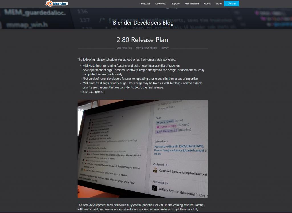 Blog de desarrolladores de Blender