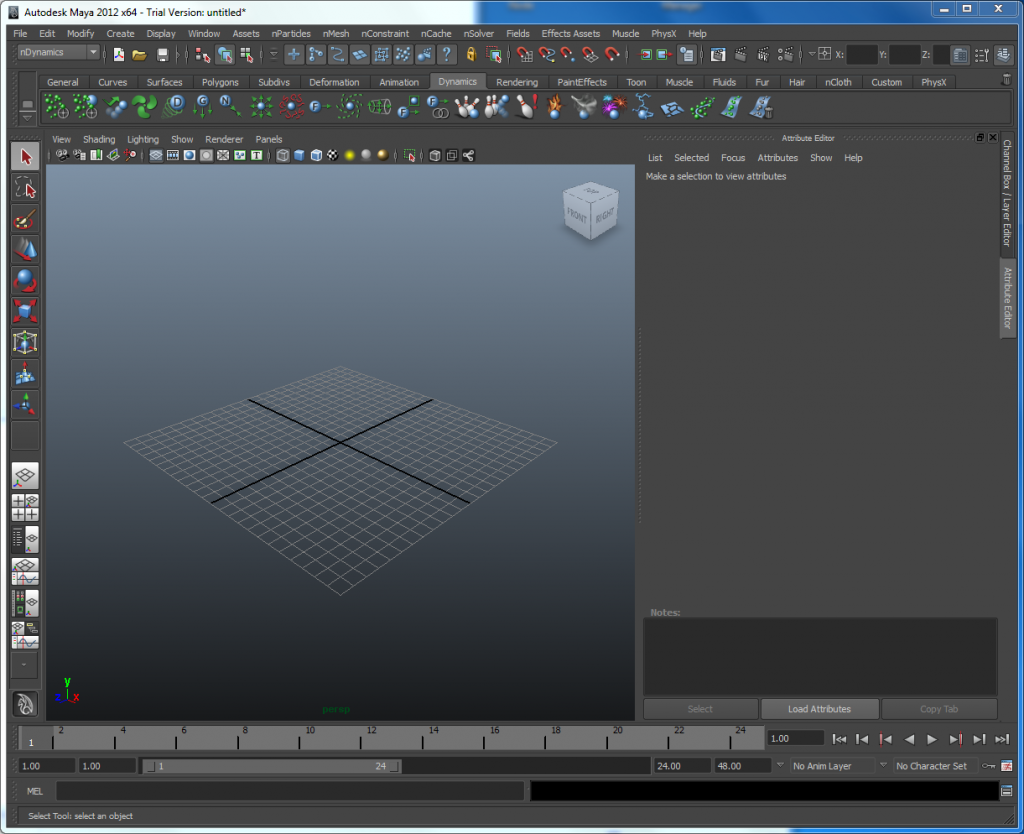 Interface de Maya 2011