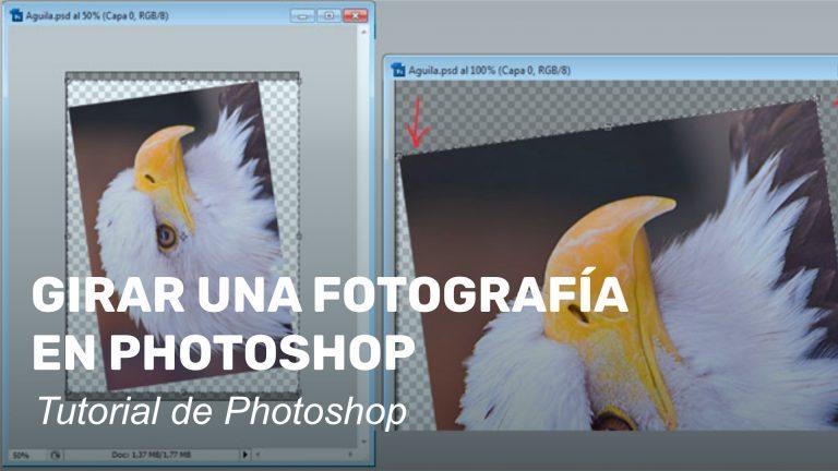 Girar una fotografía en Photoshop