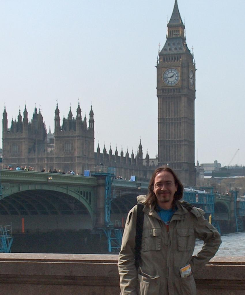Yo, en Londres