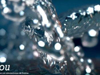 El Flou. Serie de experimentos con simulaciones de fluidos