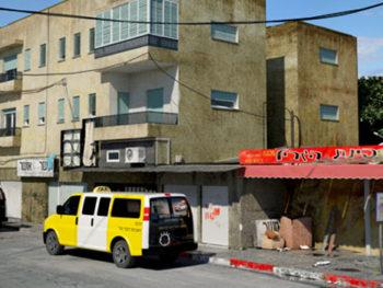 Parada de taxis en Hadar-Haifa, con mental ray