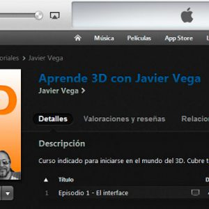 El curso de Introducción a Softimage en iTunes
