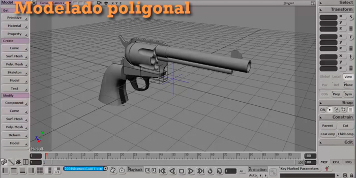 Modelado de un Colt 45 con Softimage. Modelado, parte 2
