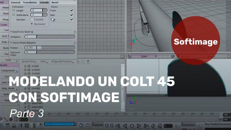 Modelado de un Colt 45 con Softimage. Tercera parte