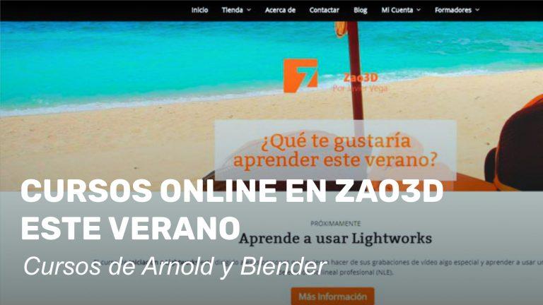 Cursos online en Zao3D este verano
