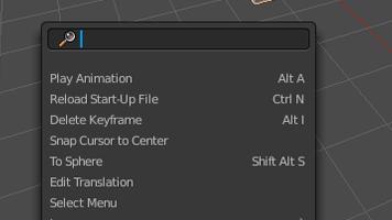 La herramienta buscar en Blender