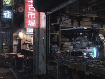 Sci-Fi Alleyway by Devon Fay. V-Ray 3.3 para Maya