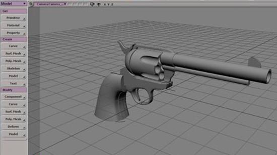Modelando un Colt 45 con Softimage