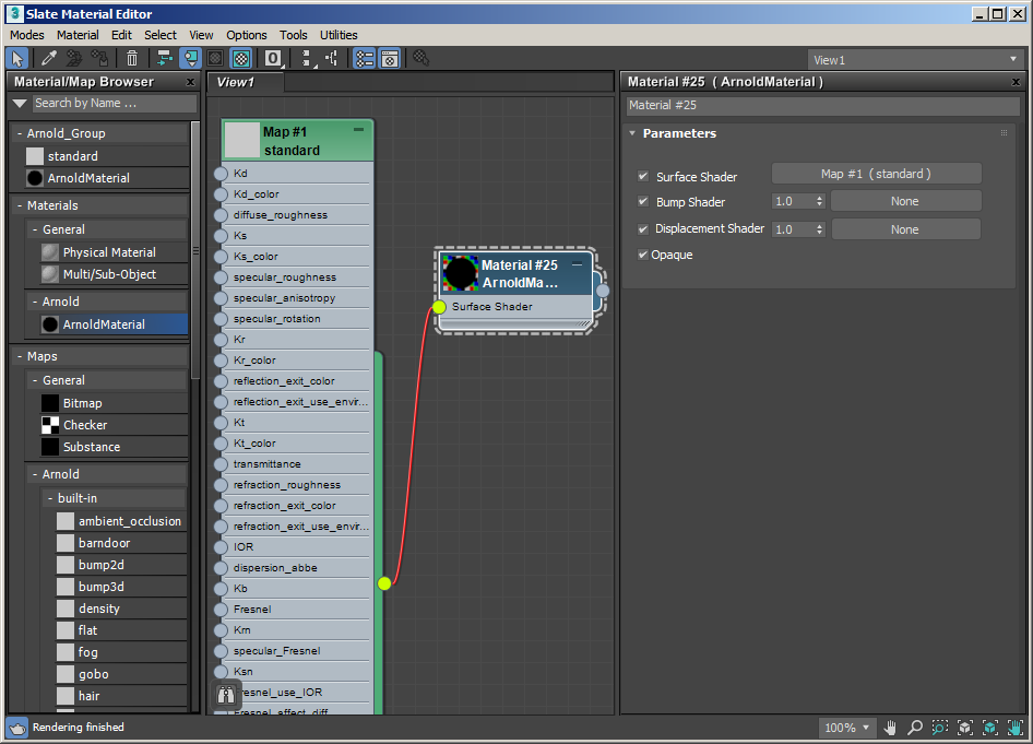 Los shaders de Arnold en 3ds max