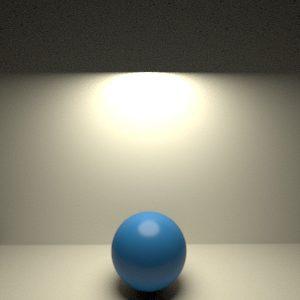 Tipos de luz en RenderMan 21. Luz de disco