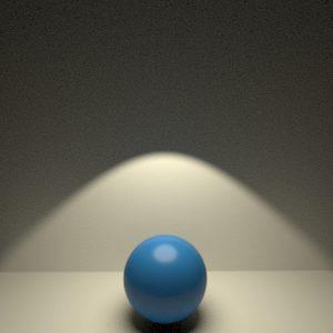Tipos de luz en RenderMan 21. Luz de spot