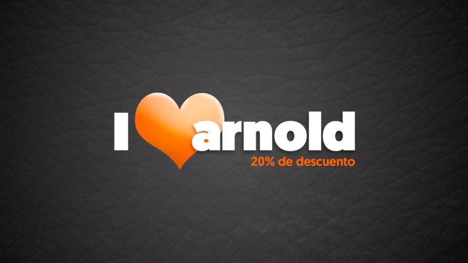 I love Arnold. 20% de descuento