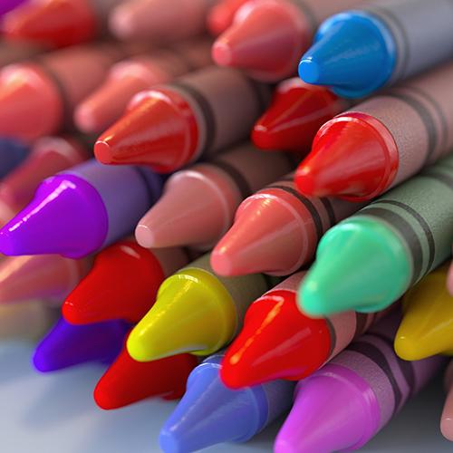 Lápices con Color Jitter en Arnold