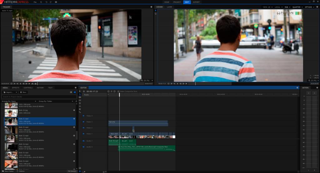 Edición de vídeo con Hitfilm 4 Express