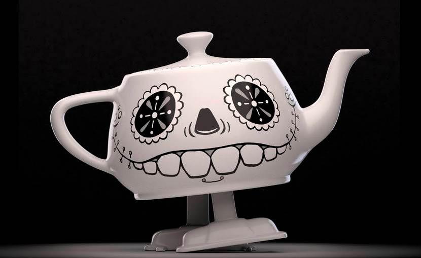 Walking Teapot for RenderMan