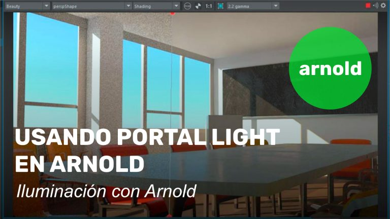Usando Portal Light en Arnold