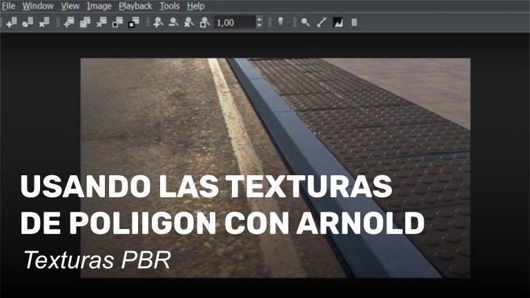 Usando las texturas de Poliigon en Arnold