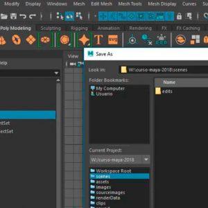 Crear proyectos en Maya en el curso Aprende 3D con Maya
