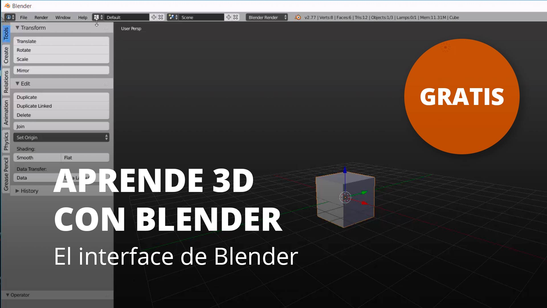 Aprende 3D con Blender. El interface de Blender