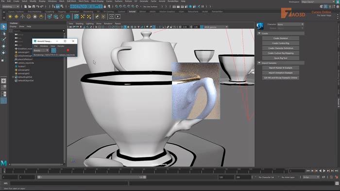 Render Viewport con Arnold 5.1 en Maya