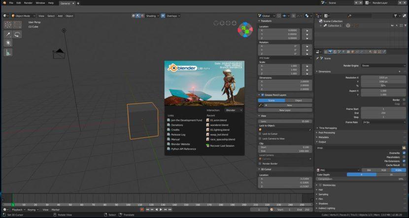 La versión Alpha de Blender 2.8