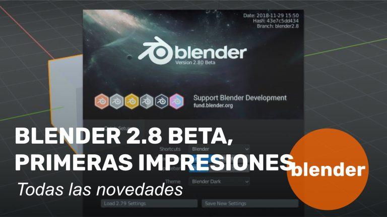Blender 2.80, primeras impresiones