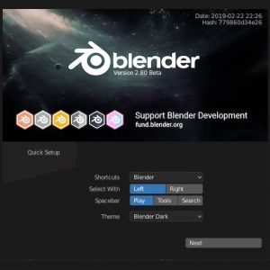 Splash Screen de Blender 2.80
