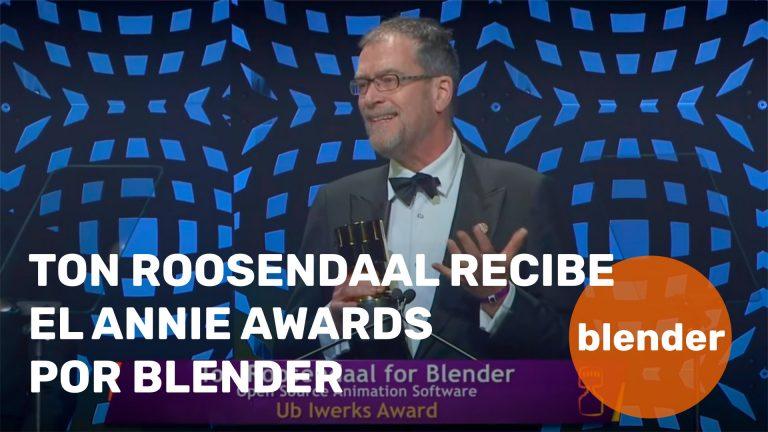 Ton Roosendaal recibe el Annie Awards por Blender