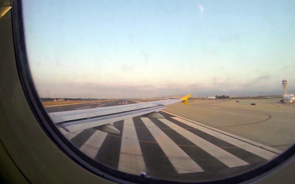 En el avión, rumbo a Mundos Digitales
