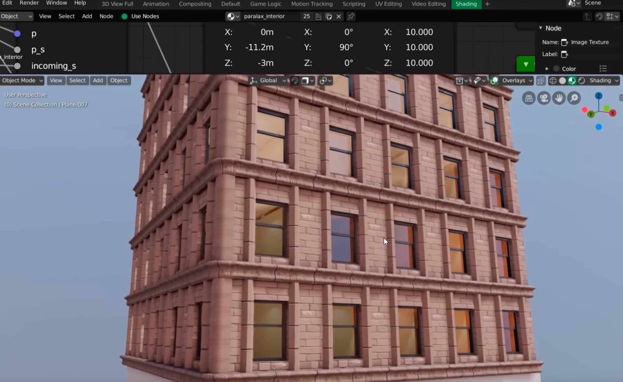 Window Shader para Eevee… y Cycles