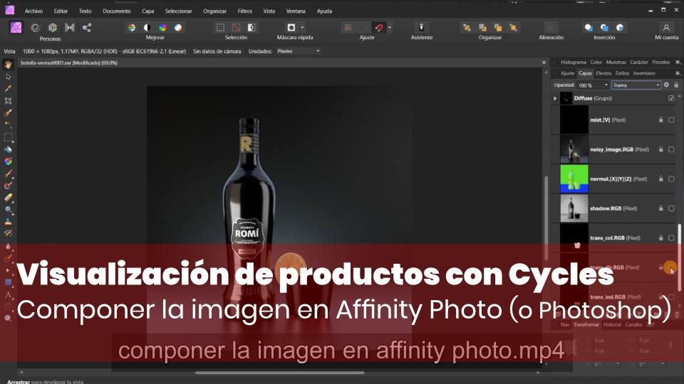 Componer la imagen en Affinity Photo (o Photoshop)