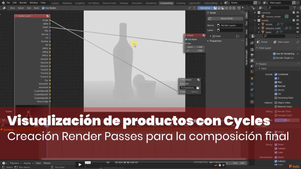 Creación Render Passes para la composición final