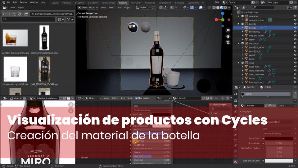 Crear el material de la botella
