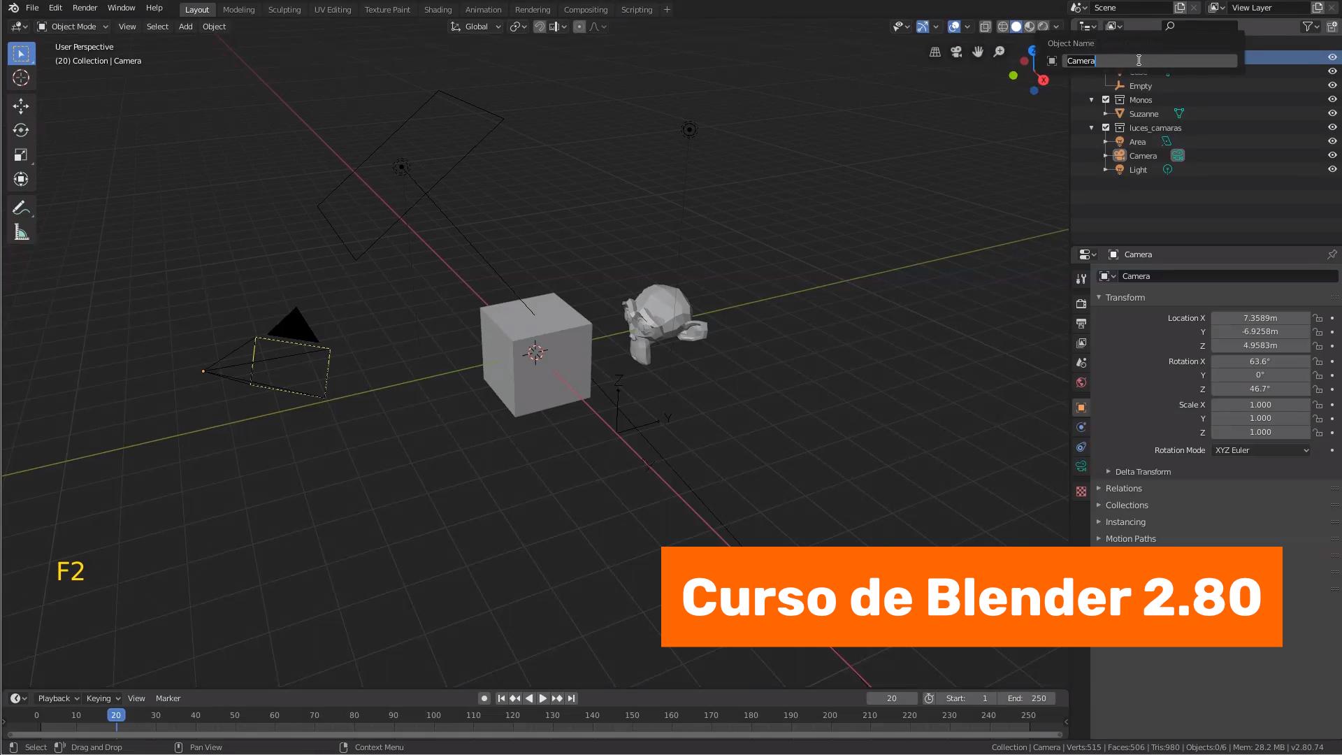 Las colecciones en Blender 2.80