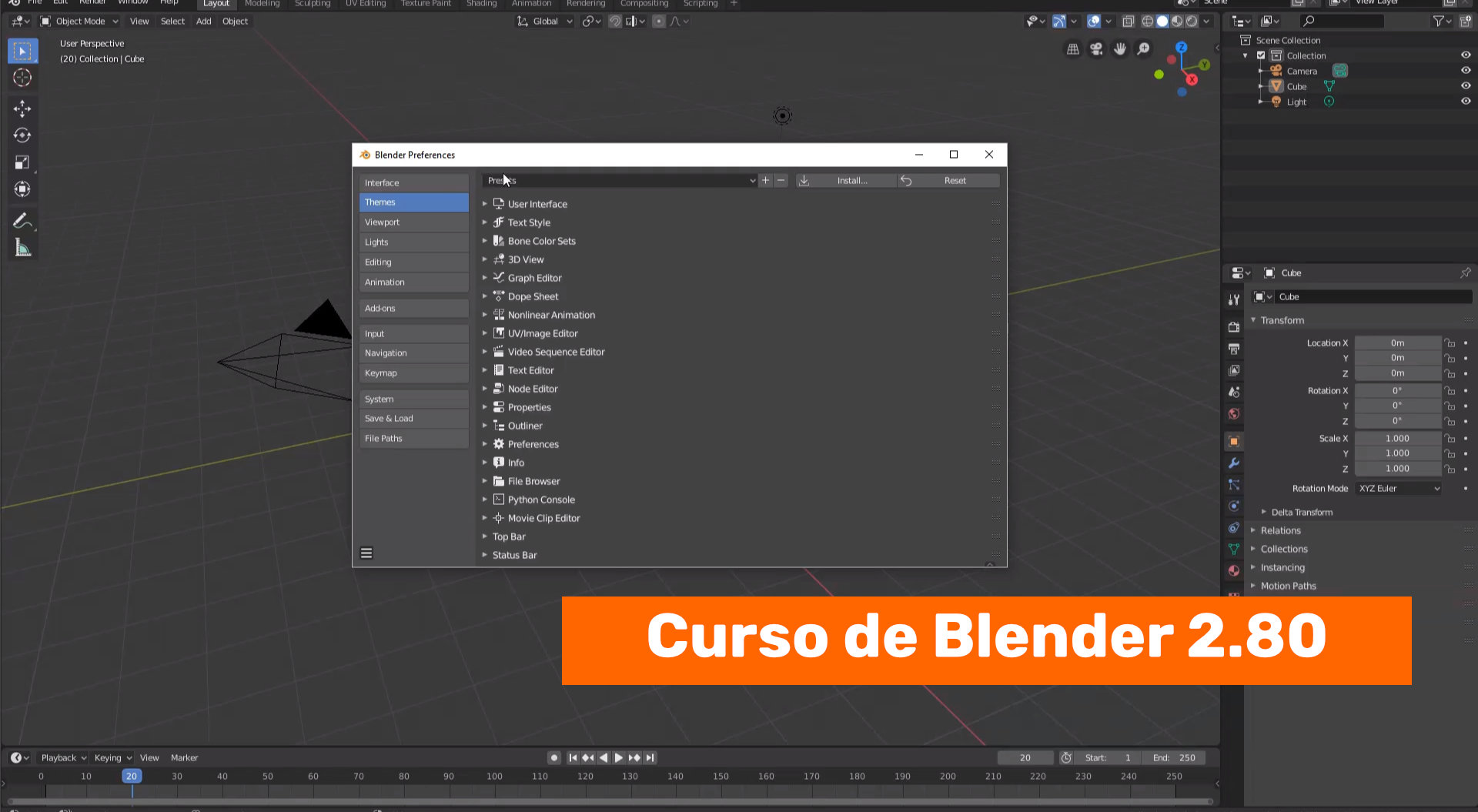 Personalizando la interface de Blender 2.80