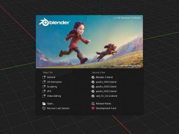 Splash Screen de Blender 2.80