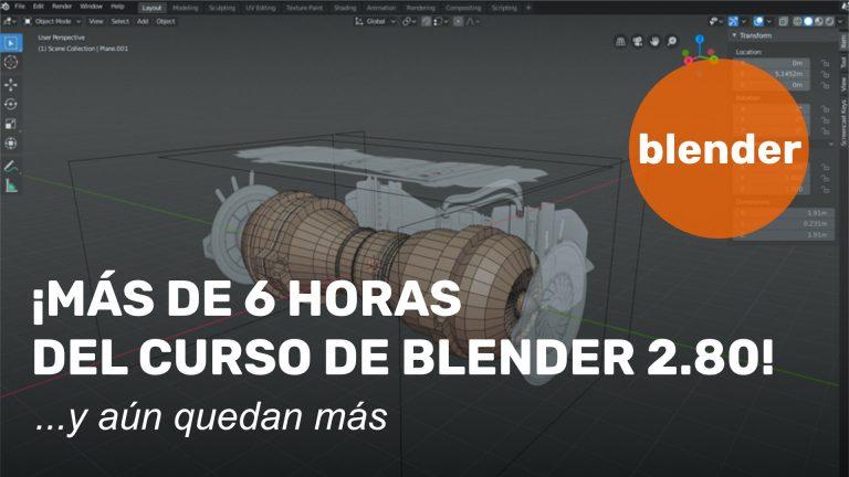 6 horas del curso de Blender
